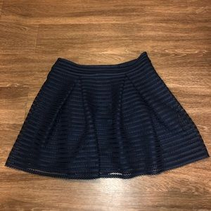 Express Navy Skirt